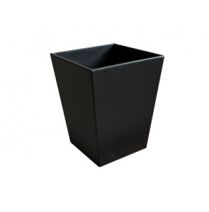Square waste bin leather with waste separating inner bin