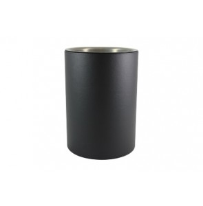 Round waste bin leather