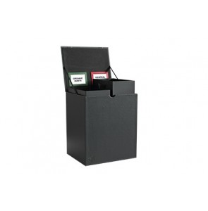 Square waste bin leather 16 litre