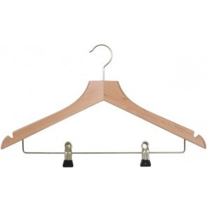 Hotelroom hanger with clips