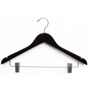 Hotelroom hanger black with clips