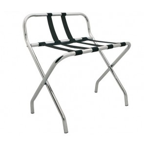 Luggage rack chrome with back support