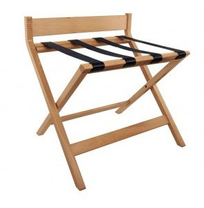 Luggage rack beech with back support