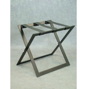 Luggage rack black steel