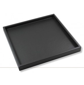 Minibar tray black leather