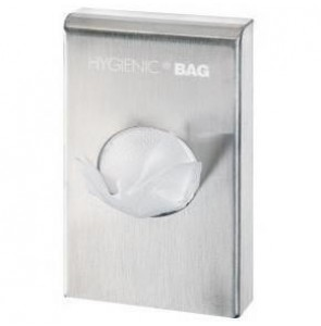 Hygiene bag dispenser brushed Chrome