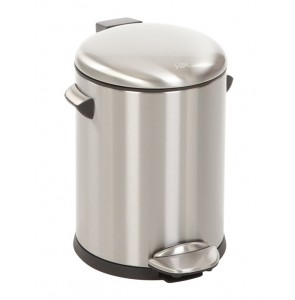 Pedal bin Belle 5 liter brushed stainless steel