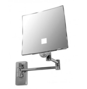 Shaving mirror Eclips square with LED light