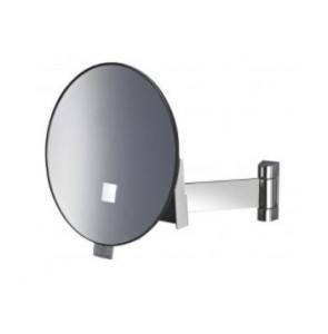 Shaving mirror Eclips round with flat arm