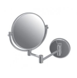 Shaving mirror double sided round