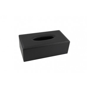 Luxury rectangular tissuebox black