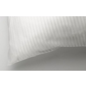 Pillow protector with satin stripe