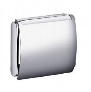 Toilet roll holder chrome with cover