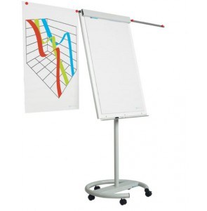 Flipchart with round base