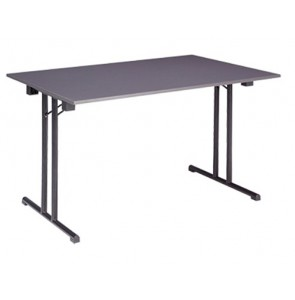 Foldable table with T-shaped base