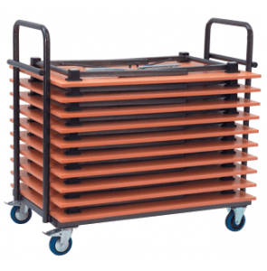 Table trolley capacity 10 - 12 tables