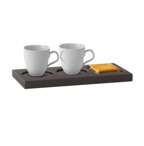 Small Tray Leather Taupe