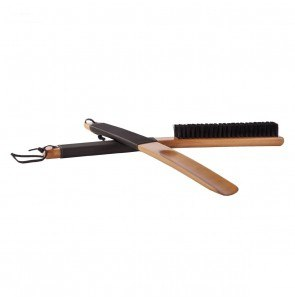 Clothes Brush of Wood and Leather