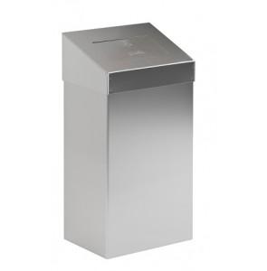 Waste bin with push valve mat stainless steel 18L