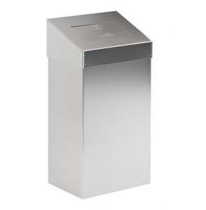 Waste bin with push valve mat stainless steel 50L