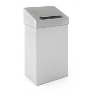Waste bin with hygienic top stainless steel 18L
