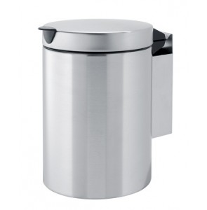 Wall-mounted Bin matt stainless steel 3L