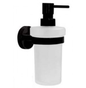 Soap dispenser with glass