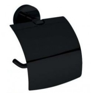 Paper holder with cover black