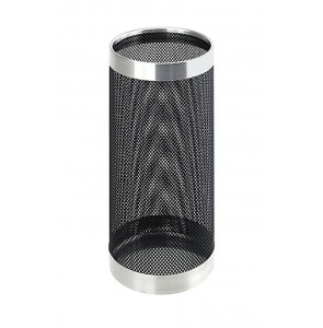 Umbrella stand black perforated